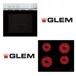 COMBO GLEM: HORNO ELÉCTRICO + ANAFE ELÉCTRICO GLEM (ITALIANO)